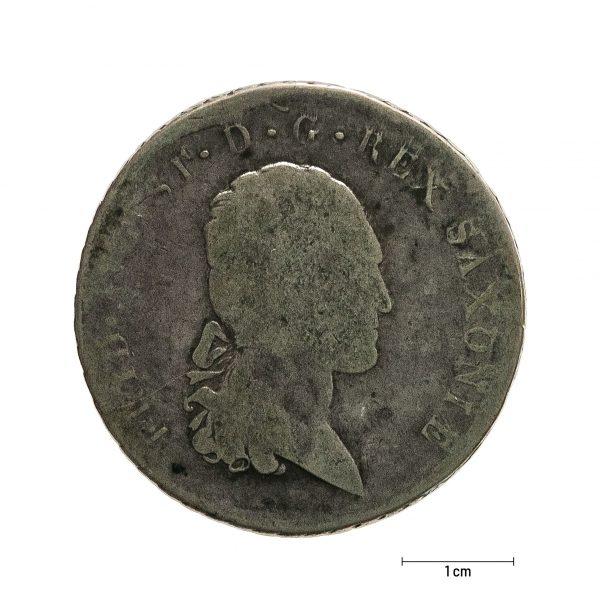 0924 Zbiory numizmatyczne St. Kadyiego; Fryderyk August książę saski (1816); talar - awers