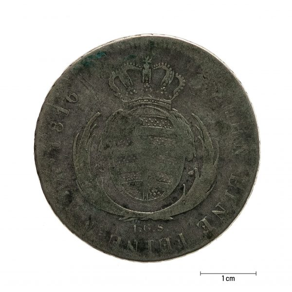 0924 Zbiory numizmatyczne St. Kadyiego; Fryderyk August książę saski (1816); talar - rewers