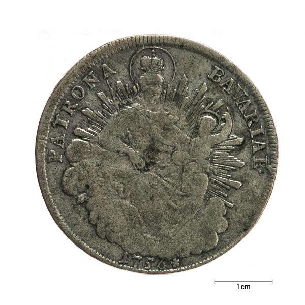 0926 Zbiory numizmatyczne St. Kadyiego; Maksymilian Józef książę bawarski (1756); talar bawarski - rewers