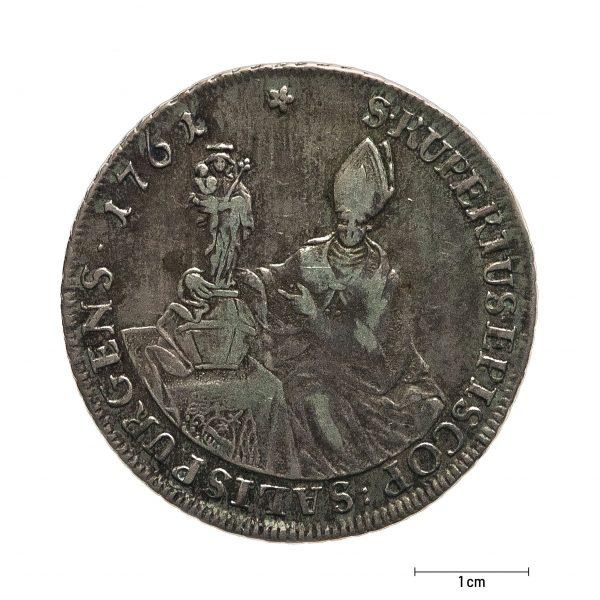 0932 Zbiory numizmatyczne St. Kadyiego; Talar arcybiskupi Salzburg (1761); awers