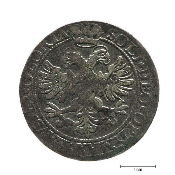 0934 Zbiory numizmatyczne St. Kadyiego; (1761); Sanct Gallen, Szwajcaria (1623); talar - rewers