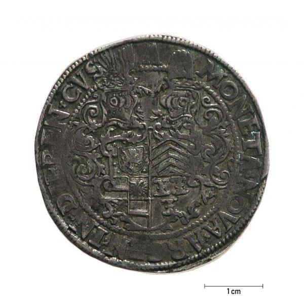 0935 Zbiory numizmatyczne St. Kadyiego; Księstwo Dieren (1577); talar – rewers