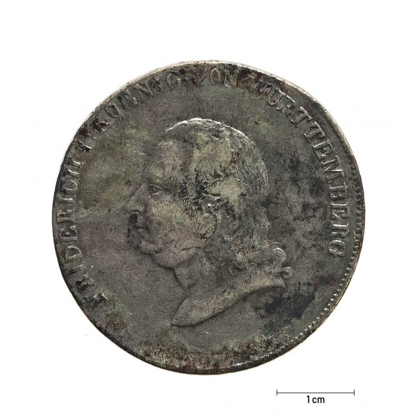 0938 Zbiory numizmatyczne St. Kadyiego; Fryderyk I, Wirtenbergia (1810); talar - awers