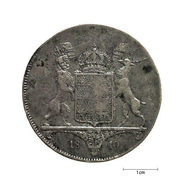 0938 Zbiory numizmatyczne St. Kadyiego; Fryderyk I, Wirtenbergia (1810); talar - rewers