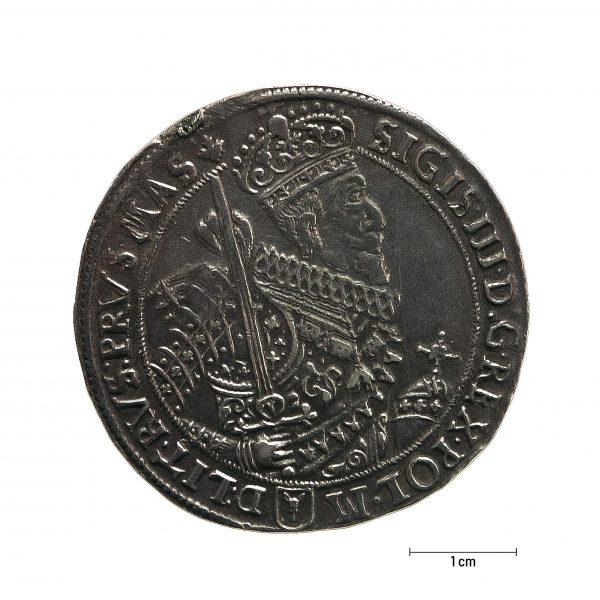 1028 Zbiory numizmatyczne St. Kadyiego; Zygmunt III Waza (1628); talar koronny – awers