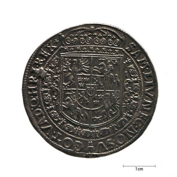 1028 Zbiory numizmatyczne St. Kadyiego; Zygmunt III Waza (1628); talar koronny – rewers