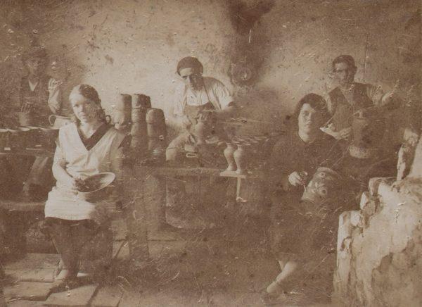 21 A.F. Etnografia, Warsztat garncarski Skibińskiego z Kołaczyc,1925 r.