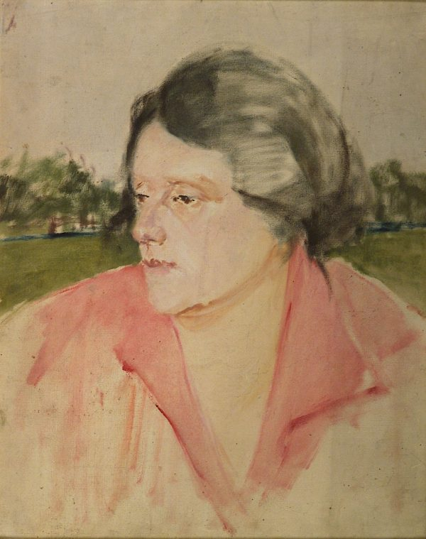 2318 AH autor Ignacy Pinkas, Portret kobiecy, olej dykta, 40 x 32, fot