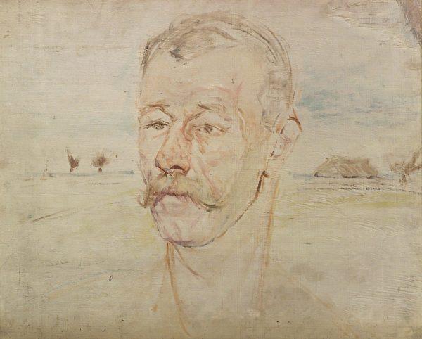 2325 AH autor Ignacy Pinkas, Studium do portretu krakowskiego kominiarza, olej sklejka, 40 x x50, fot