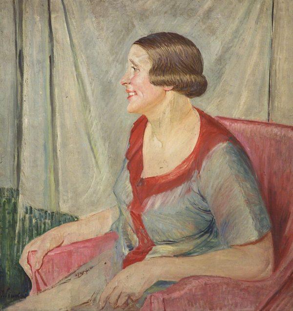 2332 AH autor Ignacy Pinkas, Portret Wł. Kowalskiej, olej płótno, 75x71, fot