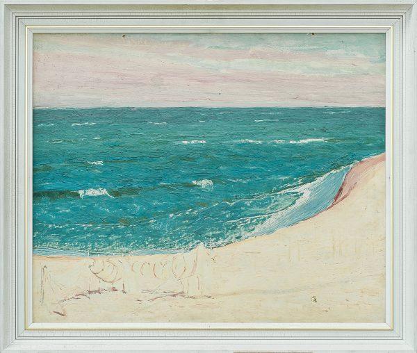 2340 AH autor Ignacy Pinkas,, Morze Jastarnia, 1933, olej dykta, 60x50, fot. MSz