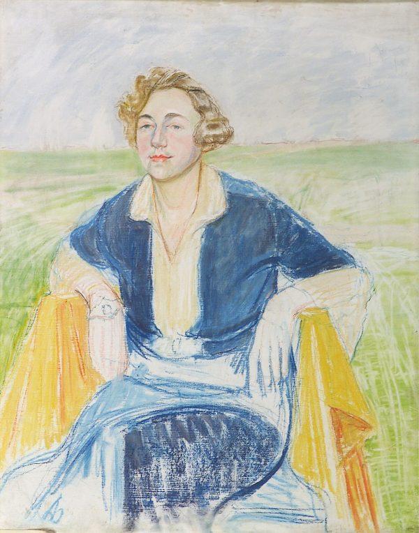 2349 AH autor Ignacy Pinkas, Portret Pani Kwiatkowej, 1933, pastel dykta, 90x70, fot
