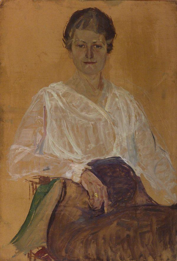 2354 AH autor Ignacy Pinkas, Portret kobiecy, 1920, olej dykta, 100x70, fot