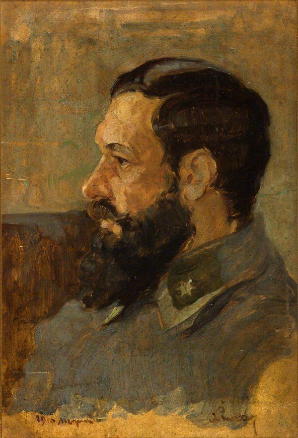 2364 AH autor Ignacy Pinkas, Portrey gen. Bolesława Roi, 1916, olej dykta, 48,5 x 33, fot
