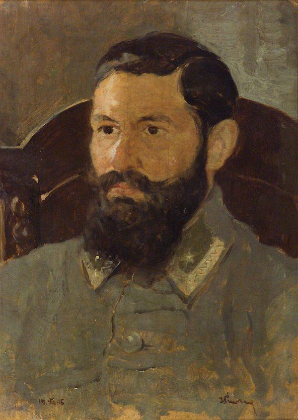 2365 AH autor Ignacy Pinkas, Portret gn. Roi, 1916, olej dykta, 49x35,5, fot