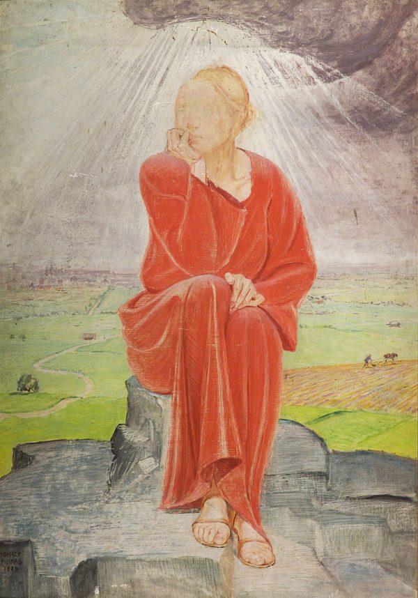 2390 AH autor Ignacy Pinkas, Troska II, 1925, olej dykta, 135x94, fot