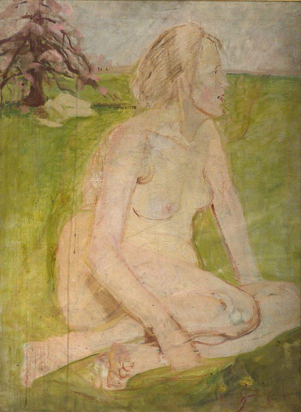 2392 AH autor Ignacy Pinkas, Akt, olej płótno, 90x66 cm, fot