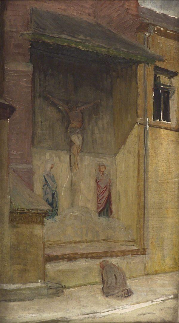 2402 AH autor Ignacy Pinkas, Kościół św. Marka, olej dykta, 76x47, fot