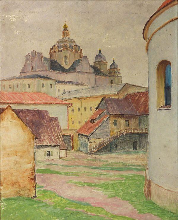 2407 AH autor Ignacy Pinkas Wilno, 1928, olej dykta, 50x40, fot