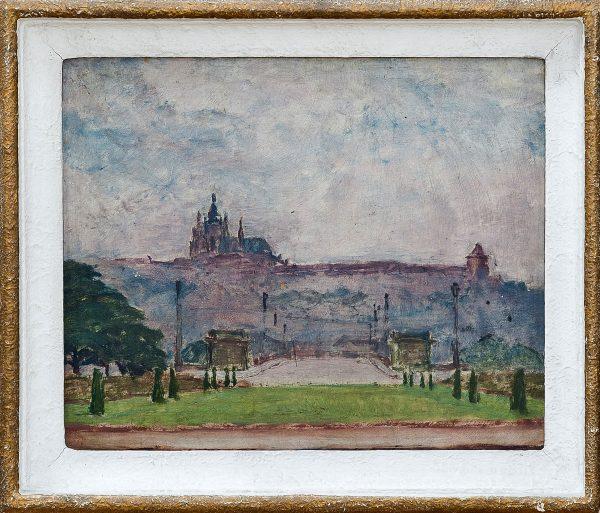 2409 AH autor Ignacy Pinkas, Hradczany Praga, 1924, 24x26, fot.MSz