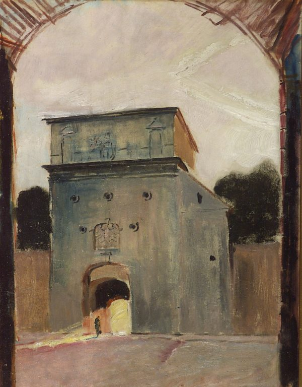 2421 AH autor Ignacy Pinkas, Ostra Brama, 1928, olej dykta, 44x34, fot