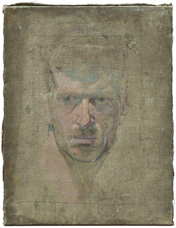 2440 AH autor Ignacy Pinkas, Głowa modela, olej płótno, 44x34, fot. MSz