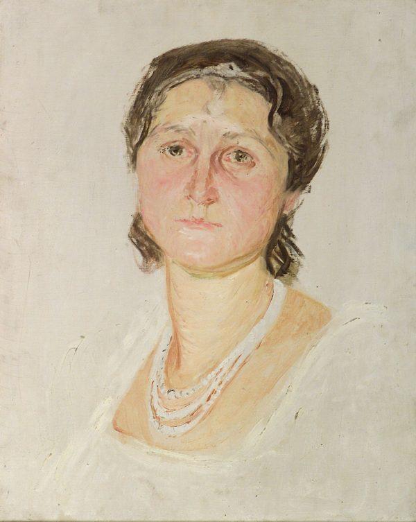 2495 AH autor Ignacy Pinkas, Szkic do portretu, olej dykta, 50x40, fot