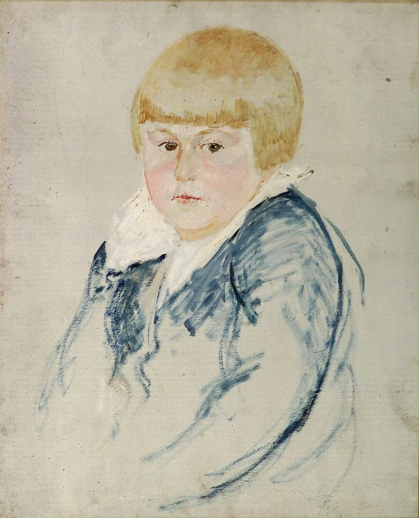 2497 AH autor Ignacy Pinkas, Portret dziecka, olej dykta, 50x40, fot