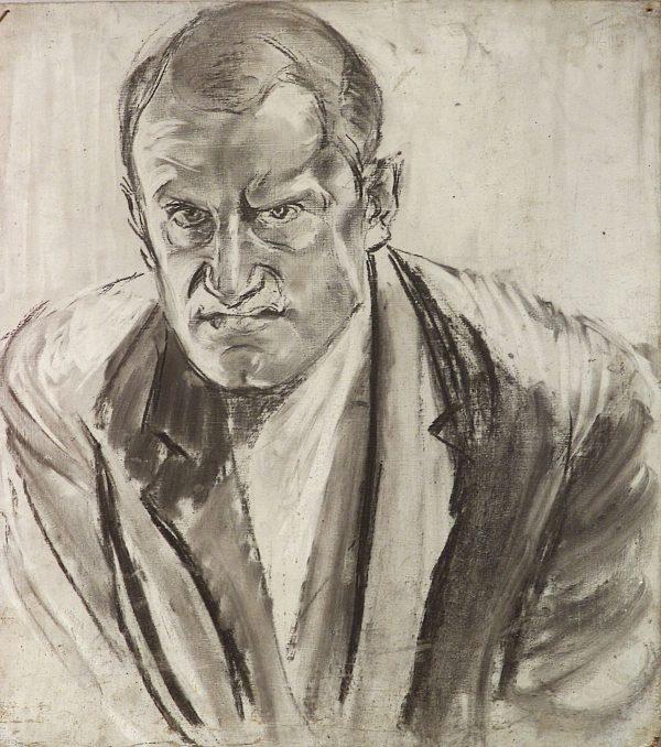2500 AH autor Ignacy Pinkas, Autioportret, węgiel, 45x40, fot