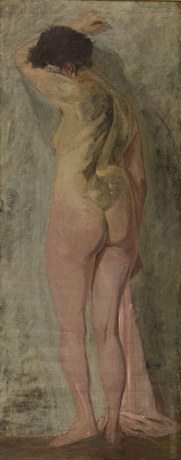 2503 AH autor Ignacy Pinkas, Akt, olej płótno, 193x88, fot