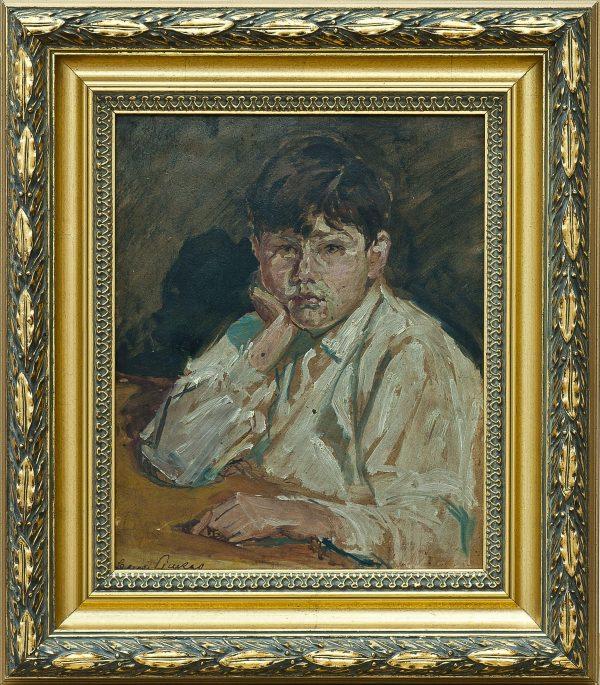 2504 AH autor Ignacy Pinkas, Portret pasierba, 1920-25, olej dykta, 27x22, fot. MSz