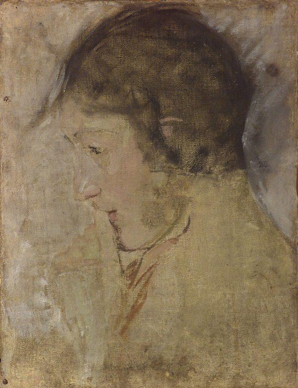 2682 AH autor Ignacy Pinkas, Portret głowy kobiecej, przed 1914, olej płótno, 44x34, fot