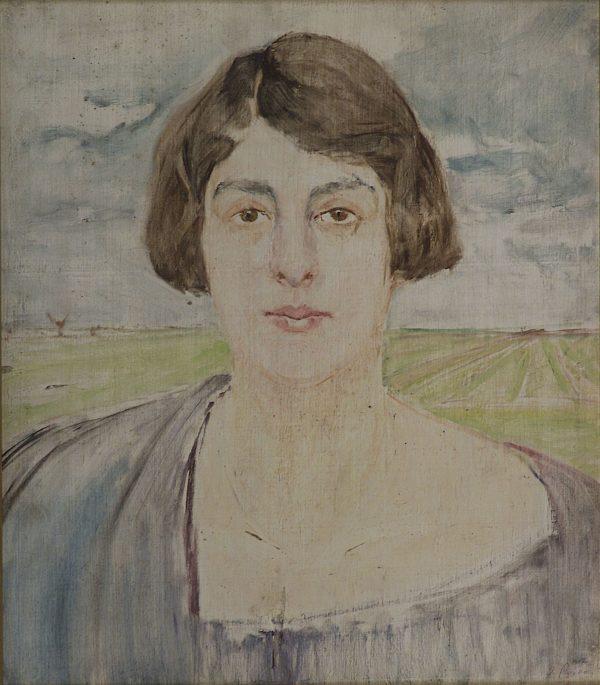 2712 AH autor Ignacy Pinkas, Szkic do portreu pani W., olej dykta, 46x39, fot