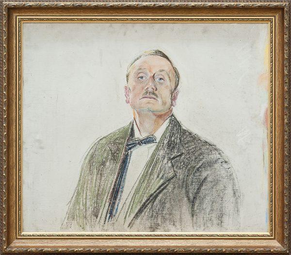 2747 AH autor Ignacy Pinkas, Szkic autoportretu, pastel dykta, 59x69, fot. MSz
