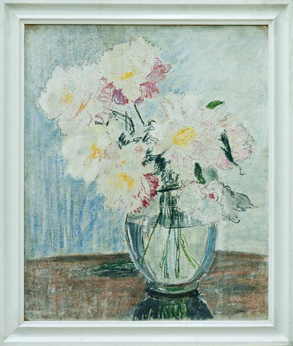 2752 AH autor Ignacy Pinkas, Kwiaty Piwonie, 1930, pastele dykta, 60x49,5, fot. MSz