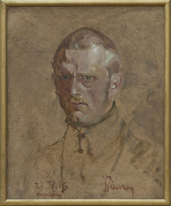 2896 AH autor Ignacy Pinkas, Autoportet w mundurze legionowym, 1916, olej dykta, 47x38,5, fot. MSz