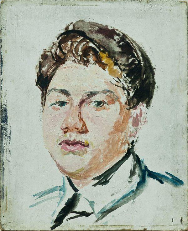 3695 AH autor Ignacy Pinkas, Szkic do portrety Włądysława Sergiusza Kazanowicza, lata 30-te, olej dykta akwarela, 27x22, fot. MSz