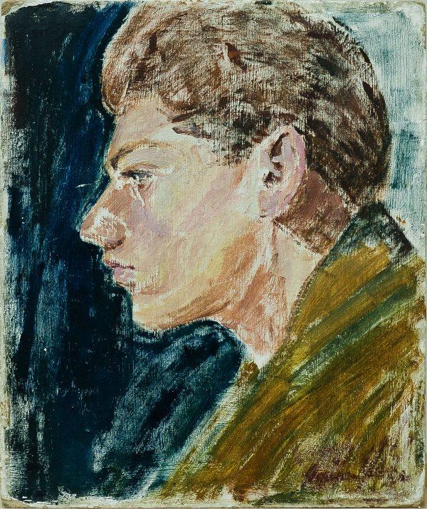 3696 AH autor Ignacy Pinkas, Szkic do portretu Władysława Sergiusza Kazanowicza, lata 30-te, olej dykta, 27x22, fot. MSz
