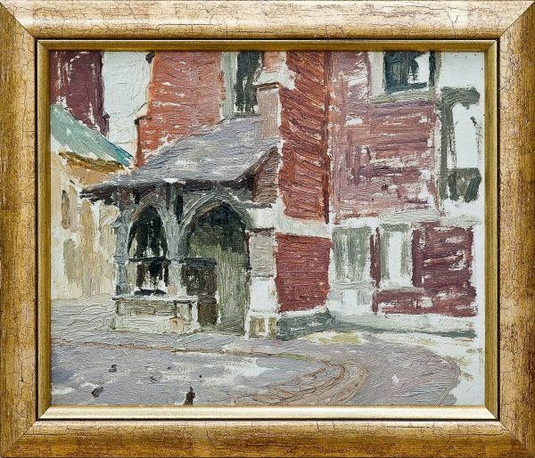 3697 AH autor Ignacy Pinkas, Wejście do kościoła św. Barbary, 1933, 22x27, fot. MSz