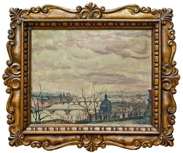 3700 AH autor Ignacy Pinkas, Praga Z zamkowych schodów, 1925, olej dykta, 40x50, fot. MSz