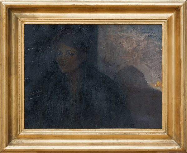 5403 AH autor Ignacy Pinkas, Portret pani Janiny, 1917, olej tektura, 50x65, fot. MSz