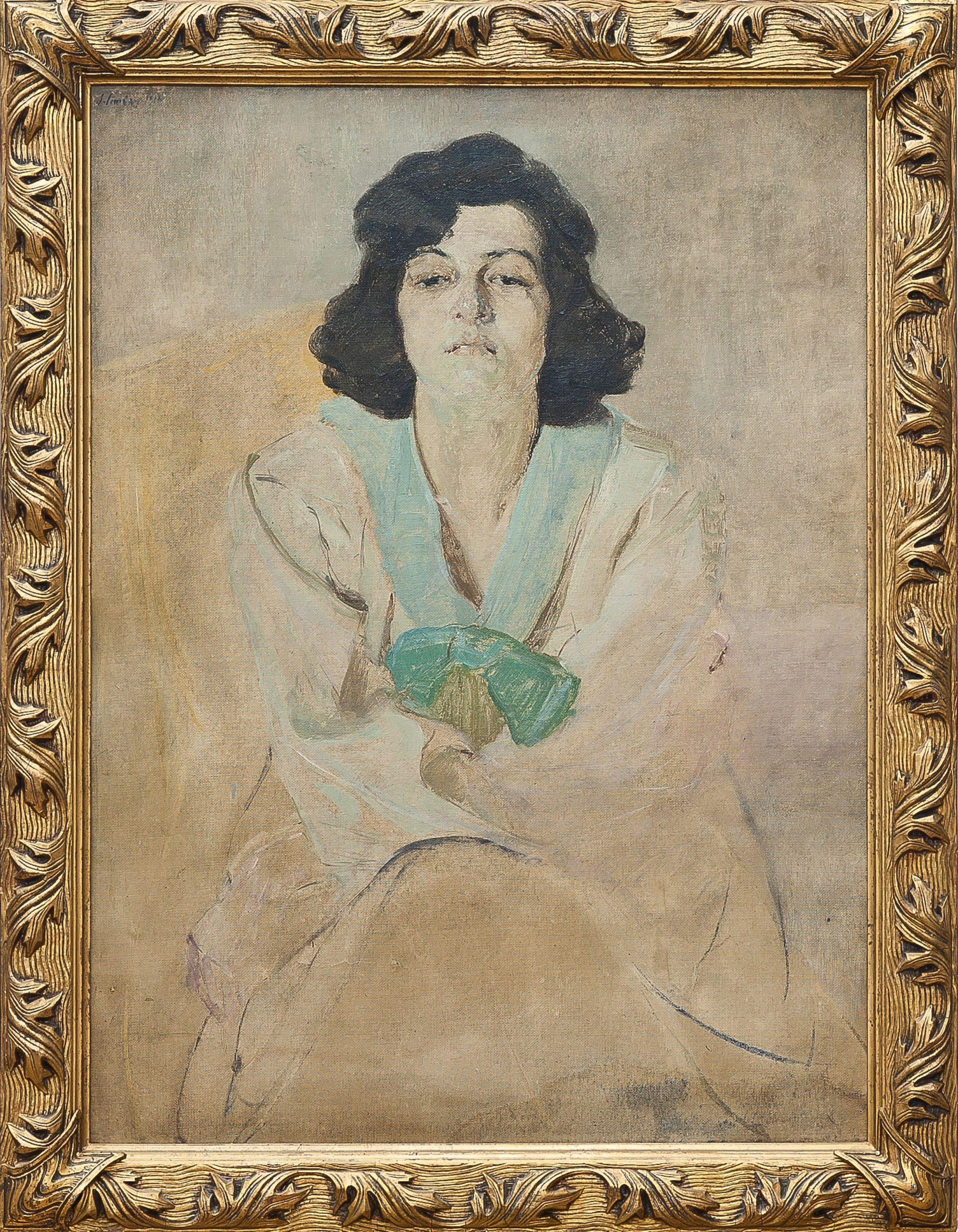 5438 AH autor Ignacy Pinkas, Portret kobiety, 1918, olej tektura, 97x71, fot. MSz